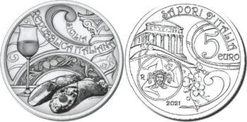 Italy 2021 5 евро Passito Cannolo