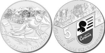 Italy 2021 5 евро Ski