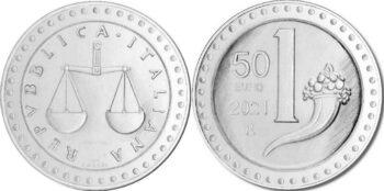 Italy 2021 50 евро Lira