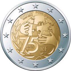 2 euro France 2021 UNICEF