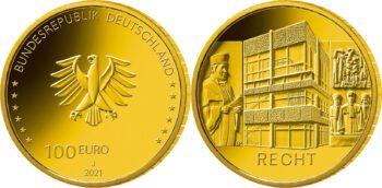 Germany 2021 100 euro Recht
