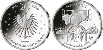Germany 2021 20 euro Frau Holle