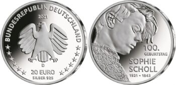 Germany 2021 20 euro Scholl