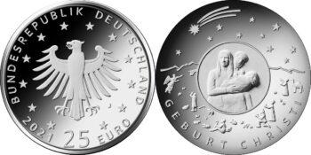 Germany 2021 25 euro Christmas