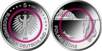 Germany 2021 5 euro Polare Zone