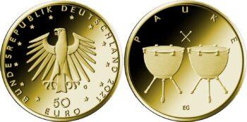 Germany 2021 50 euro Pauke