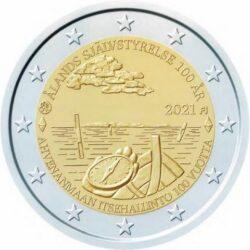 2 евро Финляндии 2021. 100-летие самоуправления в Аландском регионе