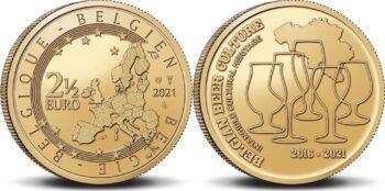 Belgium 2021 2.5 euro Beer
