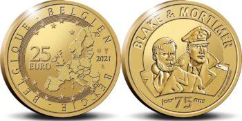 Belgium 2021 25 euro Blake&Mortimer