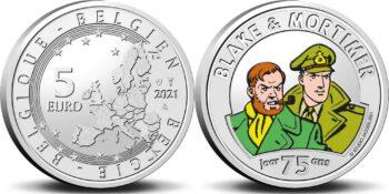 Belgium 2021 Belgium 2021 5 euro Blake&Mortimer color