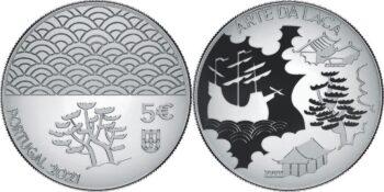 Portugal 2021 5 euro Arte da Laca