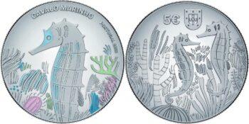 Portugal 2021 5 euro Seahorse