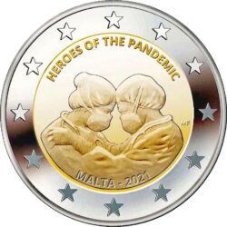 2 euro Malta 2021. Heroes pandemic