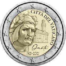2 euro Vatican 2021 Dante