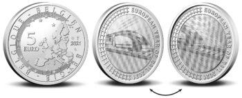 Belgium 2021 5 euro Rail