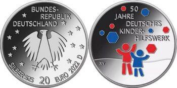 Germany 2022 20 euro. Deutsches Kinderhilfswerk