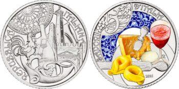 Italy 2021 5 euro Lambrusco Tortellini