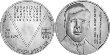 Portugal 2021. 5 euro Mendes. Cu-Ni