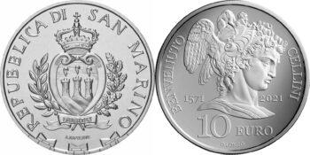 San Marino 2021 10 euro Benvenuto Cellini