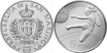 San Marino 2021 5 euro Football