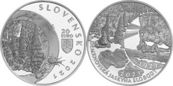 Slovakia 2021 20 euro Demanovska Cave of Liberty