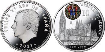 Spain 2021. 10 euro. Catedral de Burgos