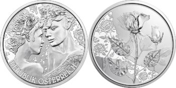 Austria 2021. 10 euro Rose. Ag (BU)
