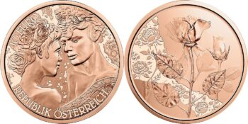Austria 2021. 10 euro Rose. Cu