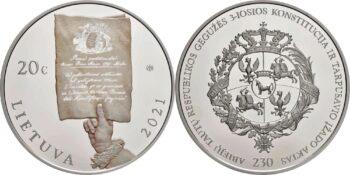 Lietuva 2021 20 euro Constitution