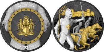 Malta 2021. 10 euro. Knights of the Past