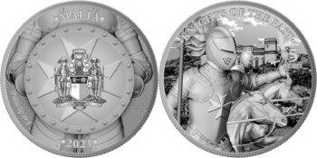 Malta 2021. 5 euro. Knights of the Past