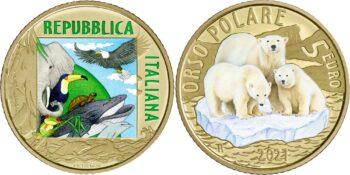 5 euro Italy 2021 Polar bear