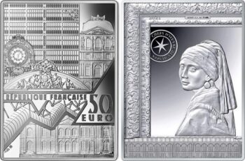 France 2021 50 euro (Ag) Girl with a Pearl Earring