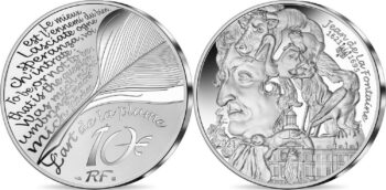 France 2021. 10 euro. Jean de la Fontaine