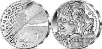 France 2021. 20 euro. Jean de la Fontaine