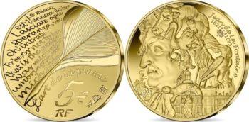 France 2021. 5 euro. Jean de la Fontaine
