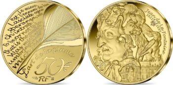 France 2021. 50 euro. Jean de la Fontaine