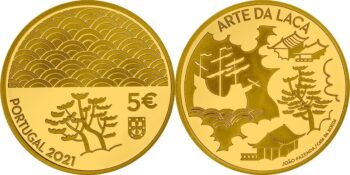 Portugal 2021. 5 euro. Arte da Laca. Au 999