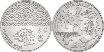 Portugal 2021. 5 euro. Arte da Laca. Cu-Ni